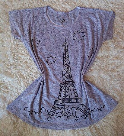 Tee Feminina Para Revenda Paris Desenho