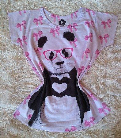Tee Feminina no Atacado Panda Óculos