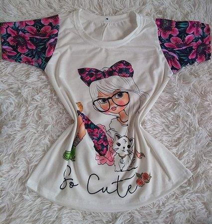 T-Shirt Feminina no Atacado So Cute