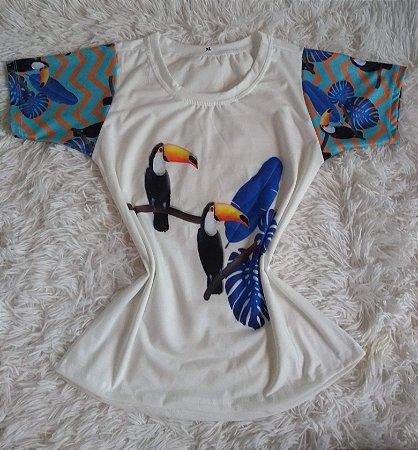 TShirt Feminina Para Revenda Tucanos