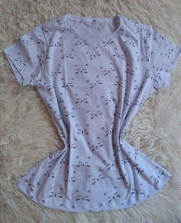 T-Shirt Feminina Para Revenda Gatos