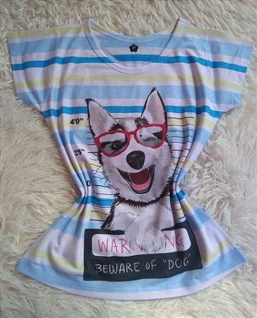TShirt Feminina Para Revenda Beware Dog