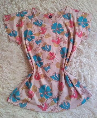 T-Shirt Feminina Para Revenda Floral