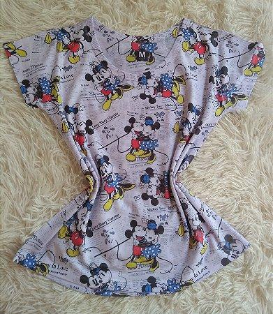 T-Shirt Feminina Para Revenda Mickey Minnie Abraço
