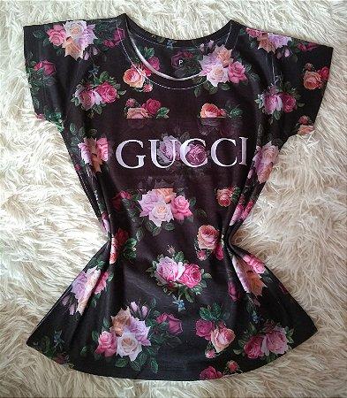 TShirt Feminina no Atacado Gucci Rosas