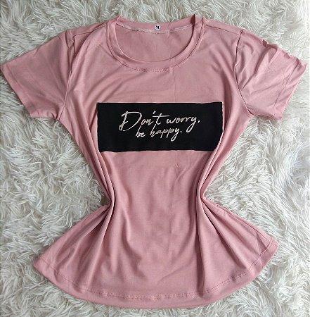 T Shirt Feminina no Atacado Happy