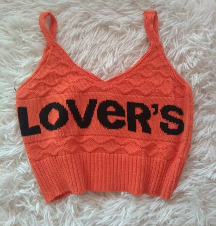 Cropped Tricot Lovers Laranja