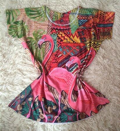 Blusinha Feminina Para Revenda Flamingos Grandes