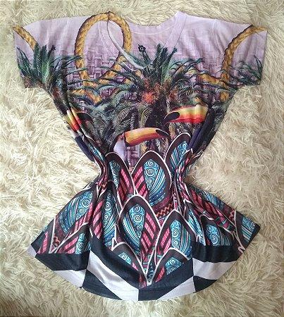 T Shirt Feminina Para Revenda Tucanos Coqueiros e Cordas