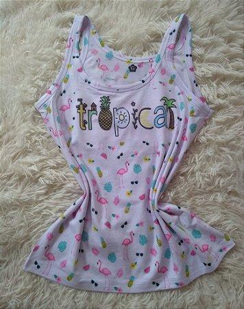 Camiseta Feminina Para Revenda Tropical