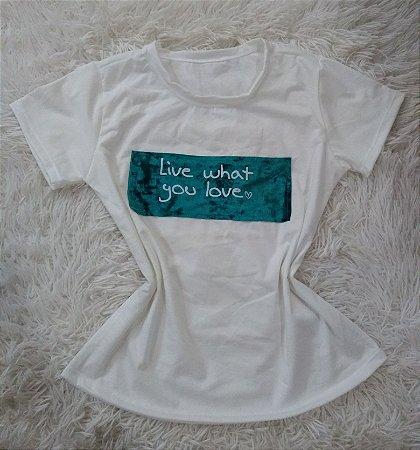 T-Shirt Feminina Para Revenda Live