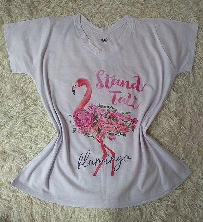 TShirt Feminina Para Revenda Flamingo Stand Tall
