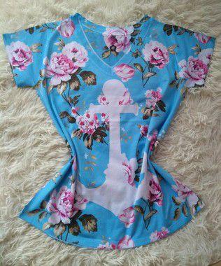 Blusa Feminina no Atacado Âncora Floral