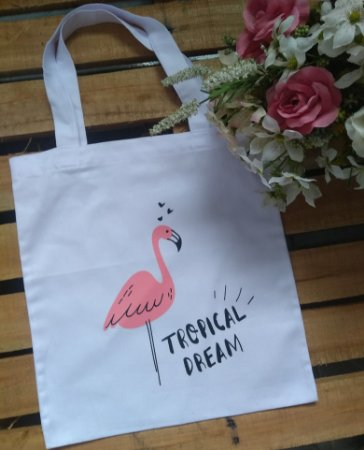 Ecobag no Atacado Flamingo