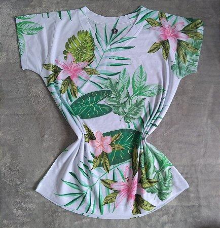 T-Shirt Feminina no Atacado Flores e Plantas