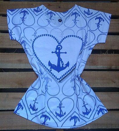 T-Shirt Feminina Para Revenda Âncora Coração