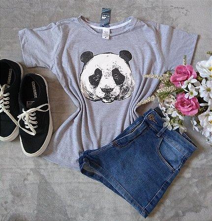 T-Shirt Feminina no Atacado Panda Rosto