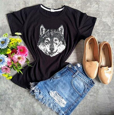T-Shirt Feminina no Atacado Lobo