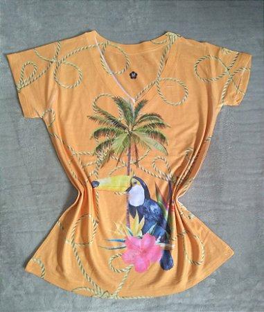T-Shirt Feminina no Atacado Tucano e Coqueiro