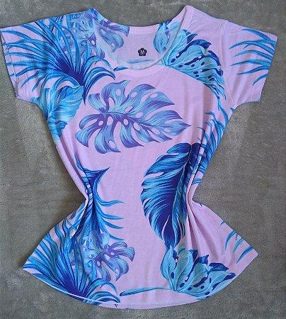 T-Shirt Feminina no Atacado Folhas Grandes