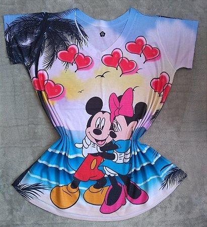 T Shirt Feminina Para Revenda Mickey e Minnie