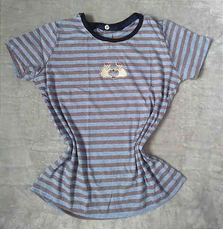 T-Shirt Feminina Para Revenda Mãos