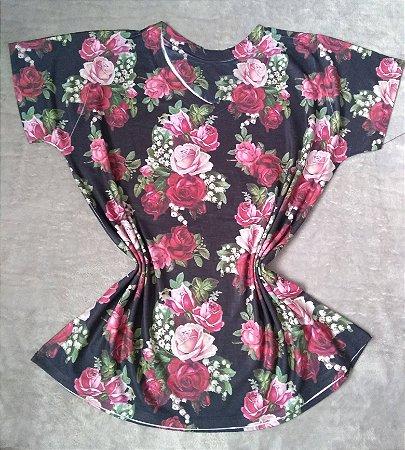 T Shirt Feminina Para Revenda Rosas