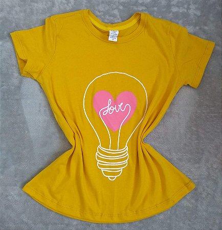 T Shirt Feminina no Atacado Lâmpada Love