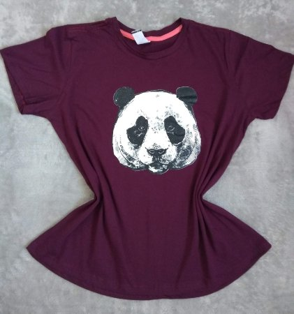 TShirt Feminina no Atacado Panda Rosto