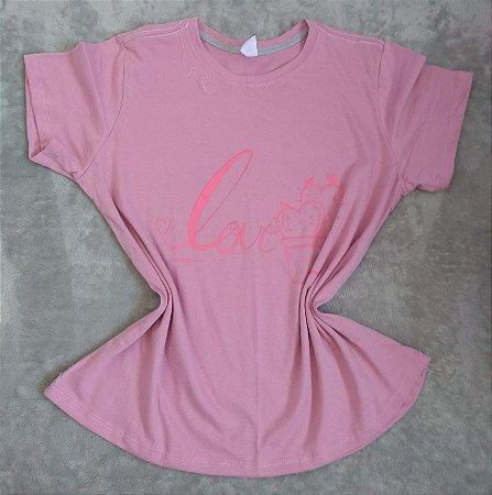 T Shirt Feminina no Atacado Love Cacto