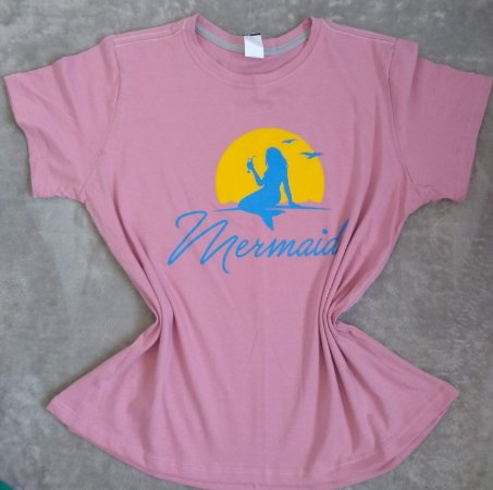 TShirt Feminina no Atacado Mermaid