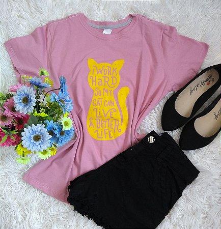 T-Shirt Feminina Para Revenda Cat