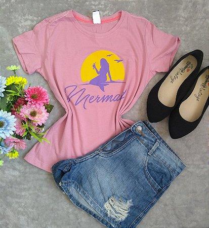 T-Shirt Feminina Para Revenda Mermaid