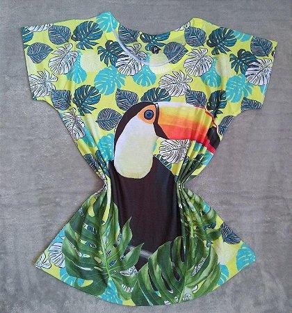 T-Shirt Feminina no Atacado Tucano Fundo Folhas