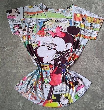 T-Shirt Feminina no Atacado Mickey Minnie Beijo