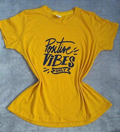 T Shirt Feminina no Atacado Positive Vibes