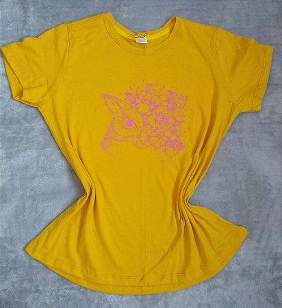 T-Shirt Feminina no Atacado Corujas Flores