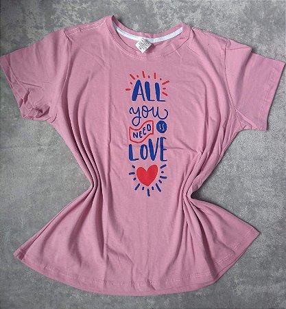 Tee Feminina No Atacado All you need is love
