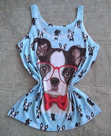 Regata Feminina Para Revenda Dog Óculos
