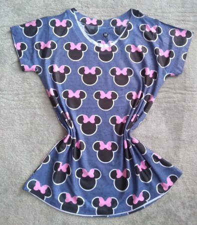 T-Shirt Feminina Para Revenda Fundo Minnie