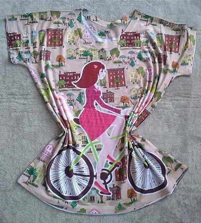 T-Shirt Feminina Para Revenda Girl Bike