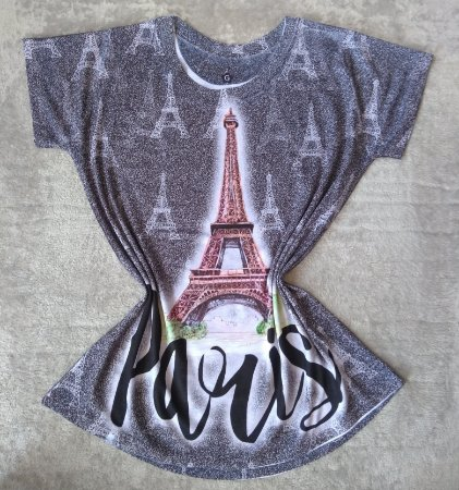 Tee Feminina No Atacado Paris Torre Grande