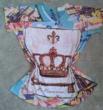 Blusa Feminina No Atacado Coroa e Chave