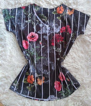 Blusinha Feminina Para Revenda Flores e Listras