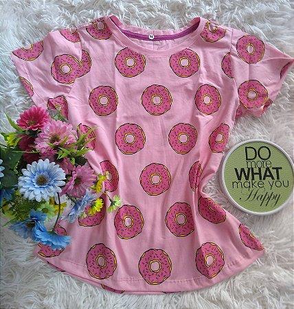 T Shirt  Feminina no Atacado Donuts