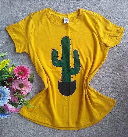 T Shirt feminina para Revenda cacto
