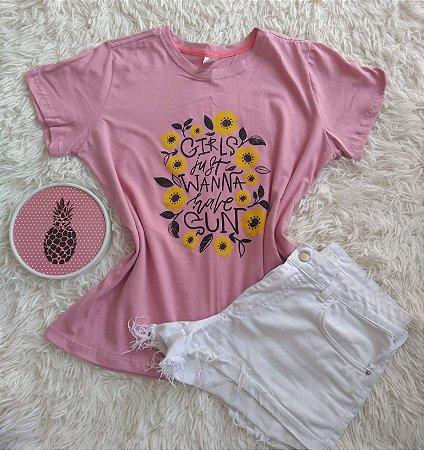Blusinha Feminina no Atacado Girls Just Wanna Have Sun