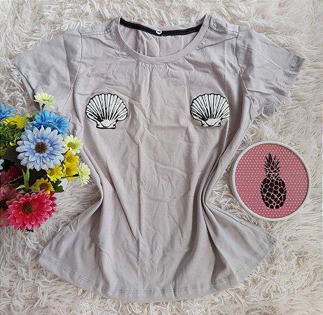 T-Shirt Feminina Para Revenda Conchas