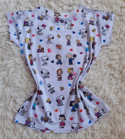 T-shirt Feminina no Atacado Snoopy e personagens