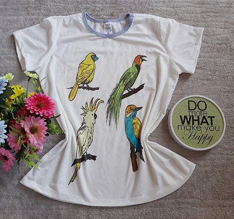 T Shirt Feminina no Atacado Aves